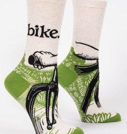 Blue Q Bike Path - Women's Crew Socks
