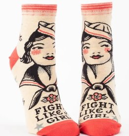 Blue Q Fight Like A Girl - Women's Ankle Socks
