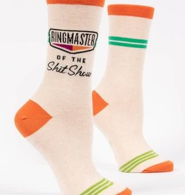 Blue Q Ringmaster of the Shit show  - Women's Crew Socks