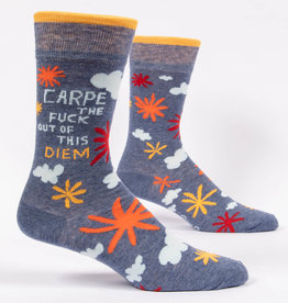 Blue Q Carpe Diem - Men's Crew Socks