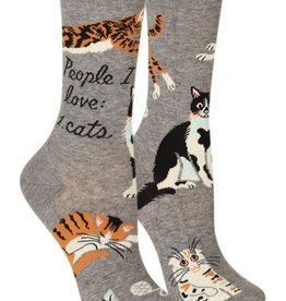 Blue Q People I Love: Cats - Women's Crew Socks