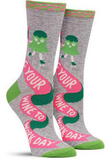 Blue Q Bring Your Wine To Work Day  - Women's Crew Socks