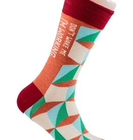 Blue Q Don't Wake Me - Men's Crew Socks