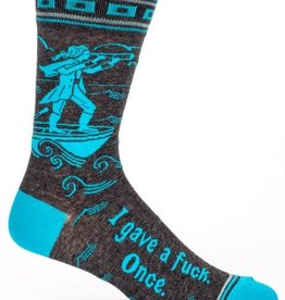 Blue Q I Gave A Fuck Once - Men's Crew Socks