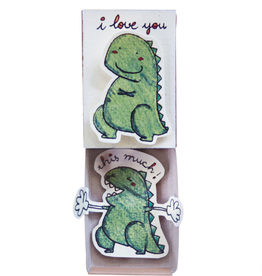 Matchbox Card I Love You This Much Dino
