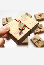 Matchbox Card with Flowers I Love U Mom