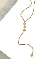 "Boho Gal Jewelry Efah ""Y"" Brass Necklace"