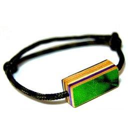 Maple XO BFF Bracelet- recycled skateboards, reclaimed nylon