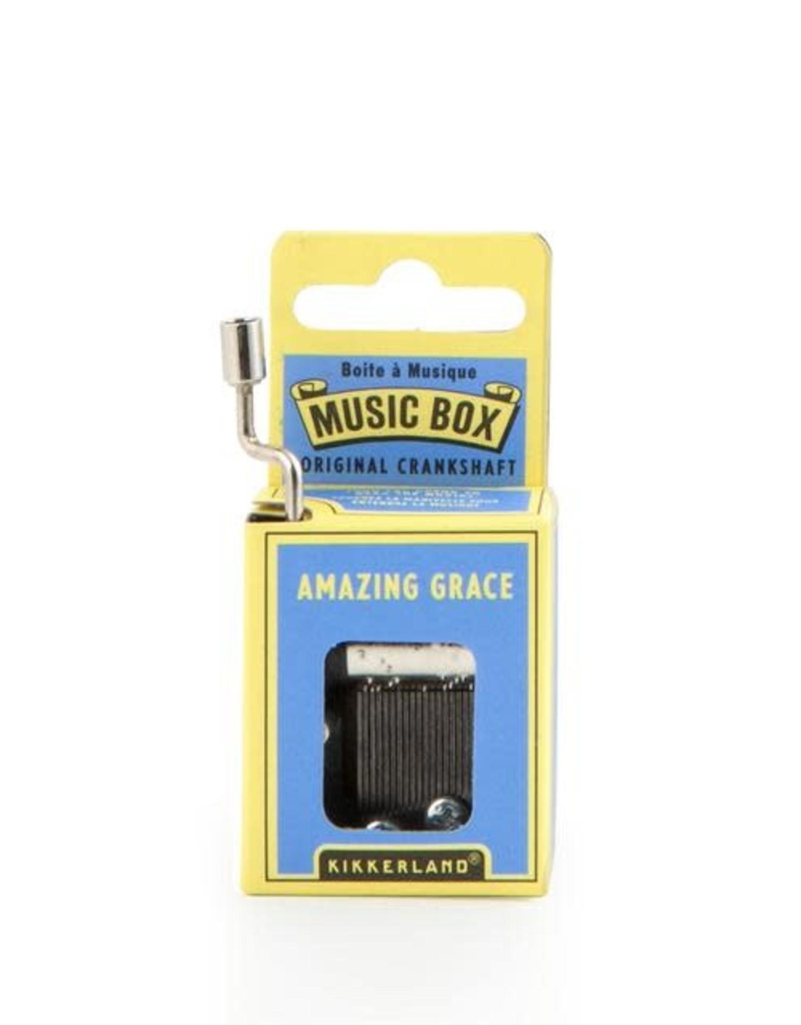 Kikkerland Hand Crank Music Box, Amazing Grace - Kikkerland