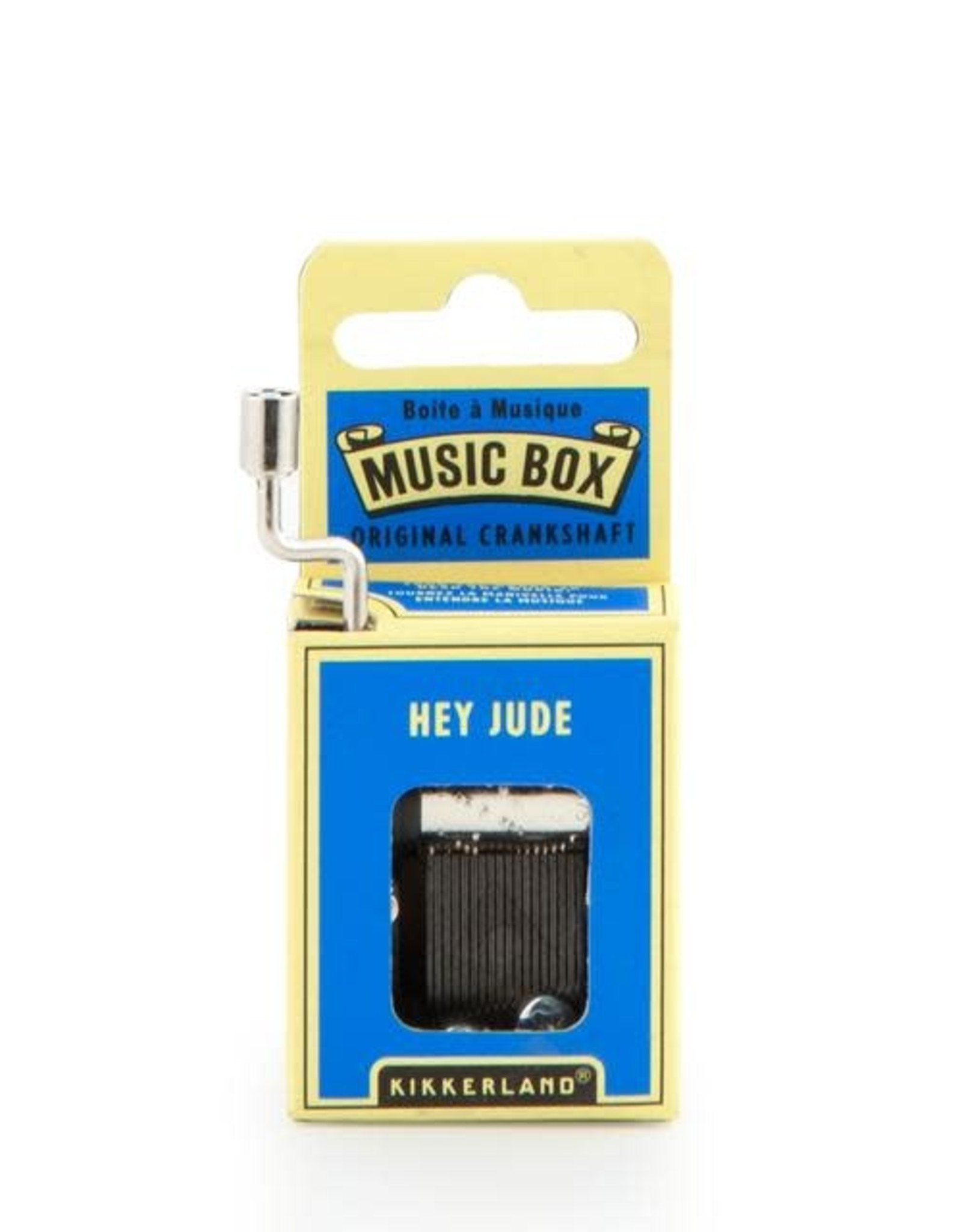 Kikkerland Hand Crank Music Box, Hey Jude - Kikkerland