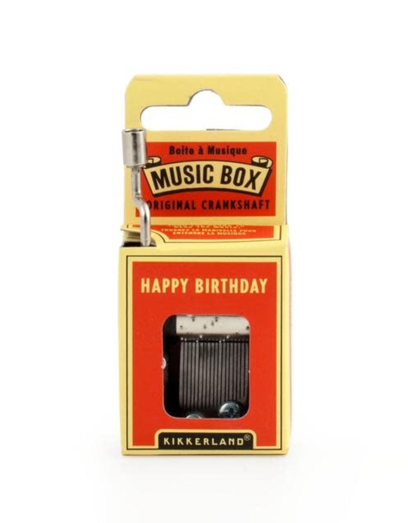 Kikkerland Hand Crank Music Box, Happy Birthday - Kikkerland
