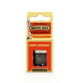 Kikkerland Hand Crank Music Box, Happy Birthday - Kikkerland