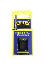 Kikkerland Hand Crank Music Box, For He's A Jolly Good Fellow - Kikkerland