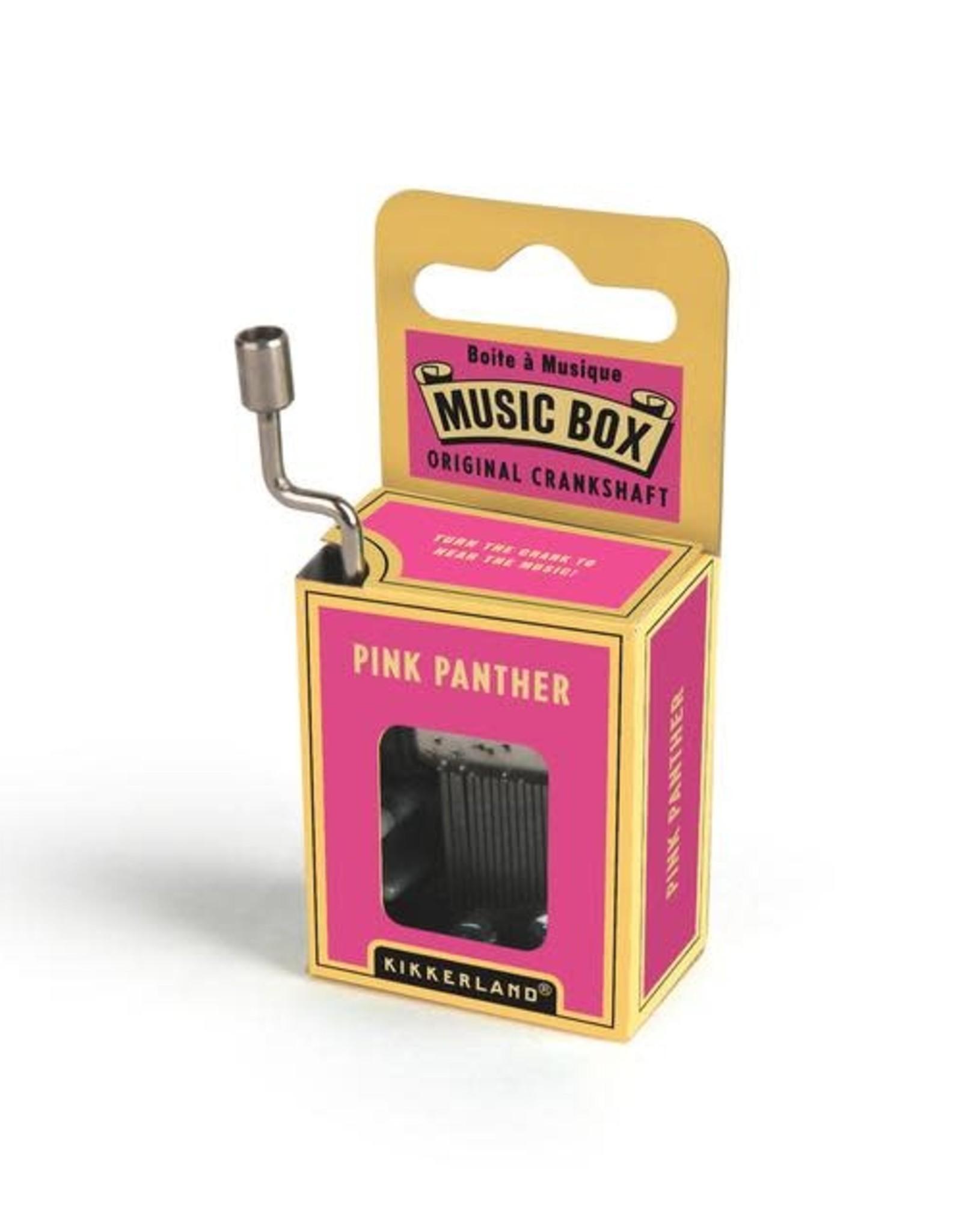 Kikkerland Hand Crank Music Box, Pink Panther - Kikkerland
