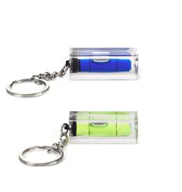Kikkerland Keychain Mini Level, Blue or Neon Yellow- Kikkerland