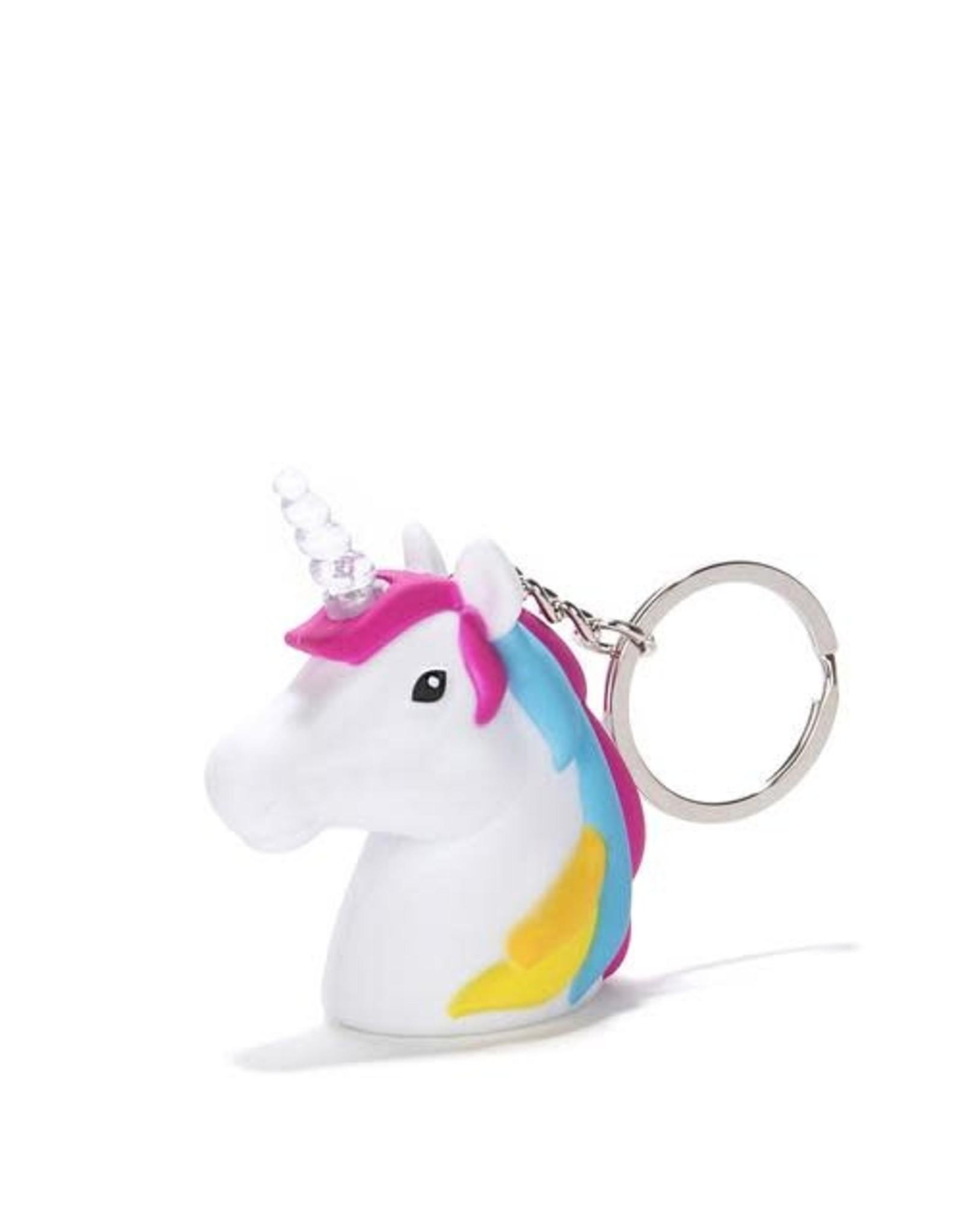 Kikkerland Unicorn Keychain with LED Light + Sounds - Kikkerland