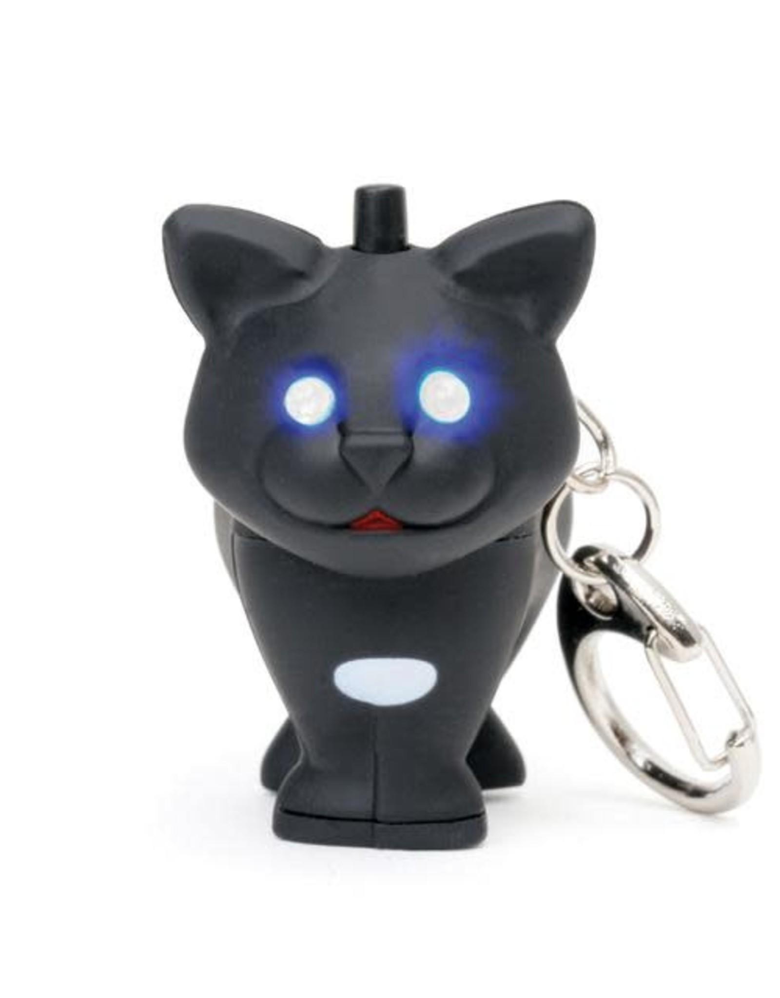 Kikkerland Cat Keychain with LED Light + Sound - Kikkerland