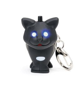 Kikkerland Cat Keychain with LED Light + Sound - Kikkerland