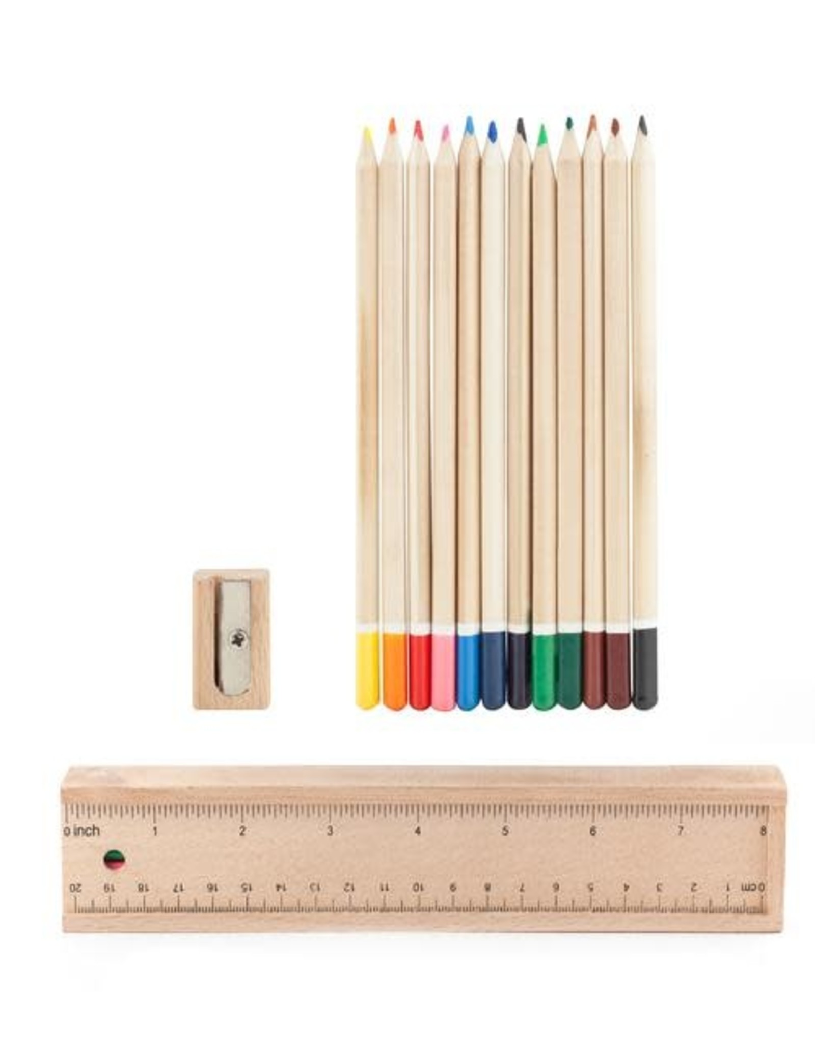 Kikkerland Wood Colored Pencil Doodle Box - Kikkerland