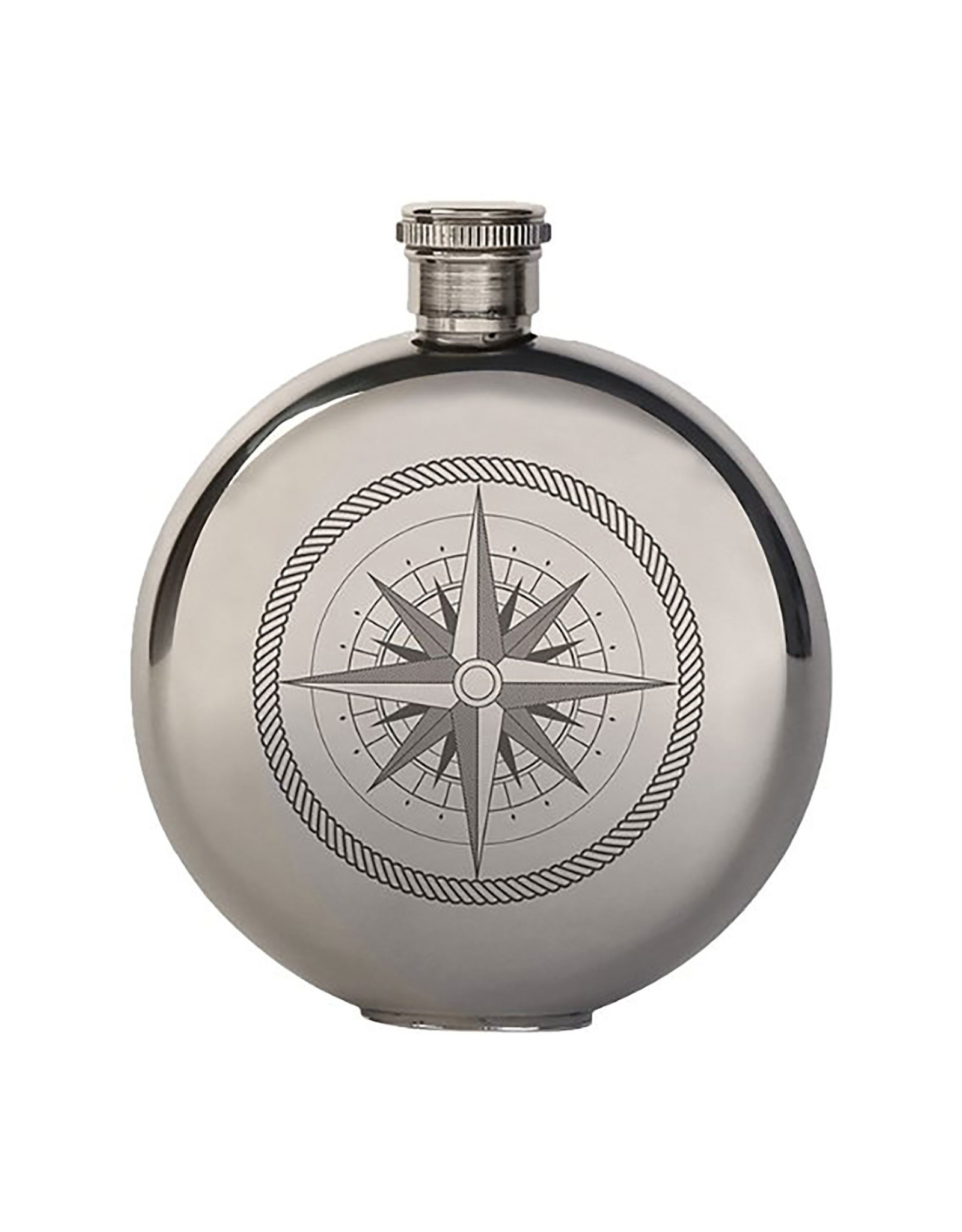 Kikkerland 5oz Compass Canteen Flask - Kikkerland