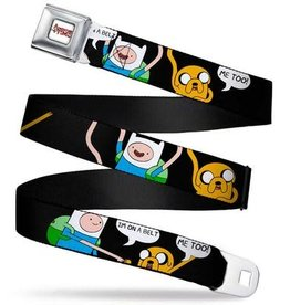 Buckle Down Belts Adventure Time Logo White Full Color Seatbelt Belt