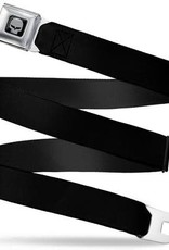 Buckle Down Belts C6R Jake Skull Seatbelt Belt with Black Webbing