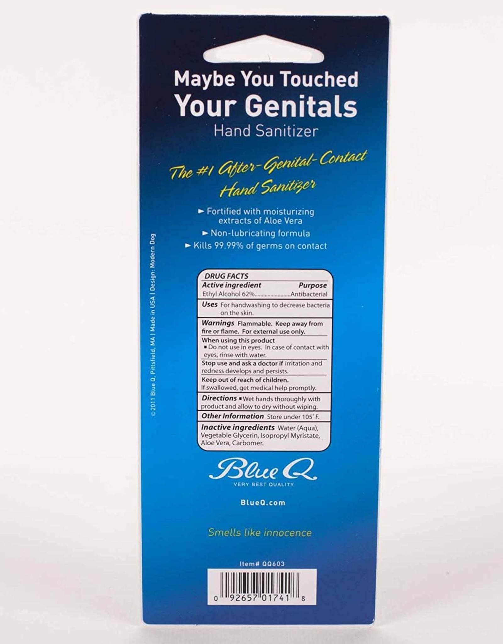 Blue Q ''Maybe You Touched Your Genitals'' - hand sanitizer