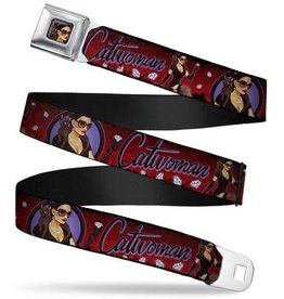 Buckle Down Belts Catwoman Bombshell Seatbelt Belt
