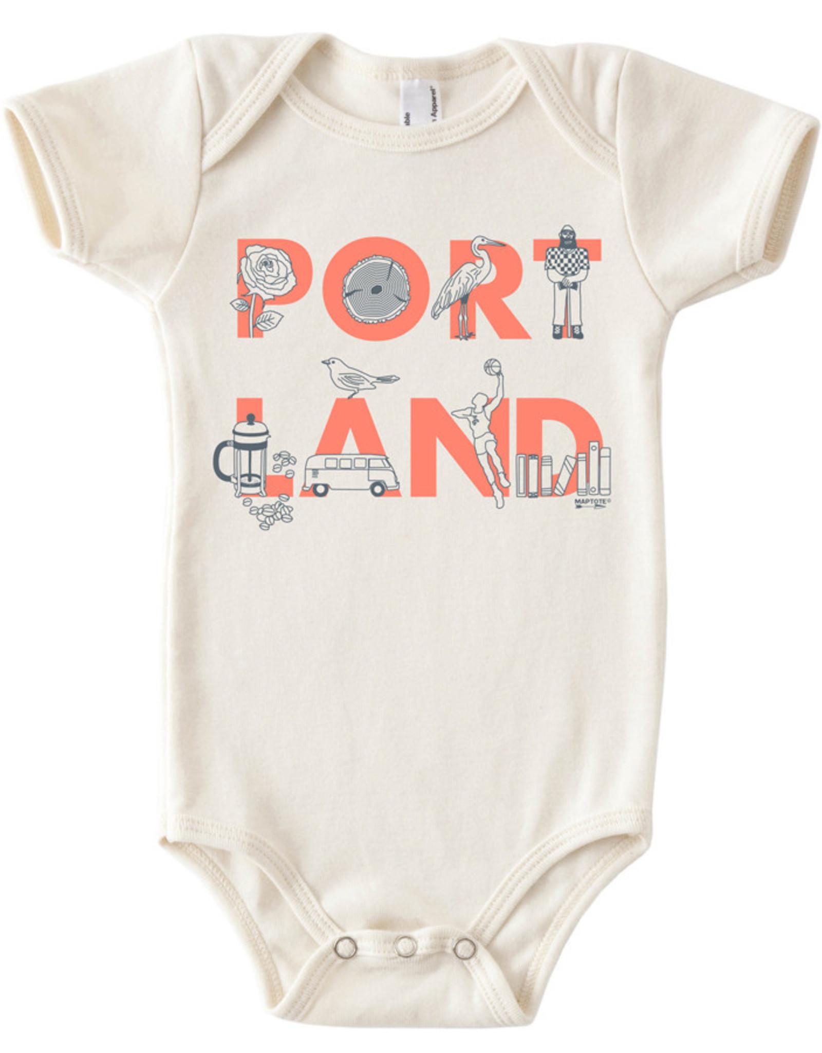 Maptote Portland Baby Onesie, FONT