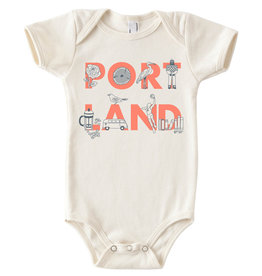 Maptote Portland Baby Onesie, FONT