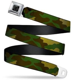 Buckle Down Belts Chevy Seatbelt Belt Camo Olive Webbing