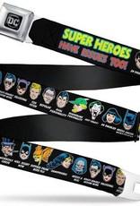 Buckle Down Belts Super Heroes have Issues Too Seatbelt Belt DC Comics