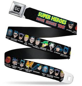 Buckle Down Belts Super Heroes have Issues Too Seatbelt Belt