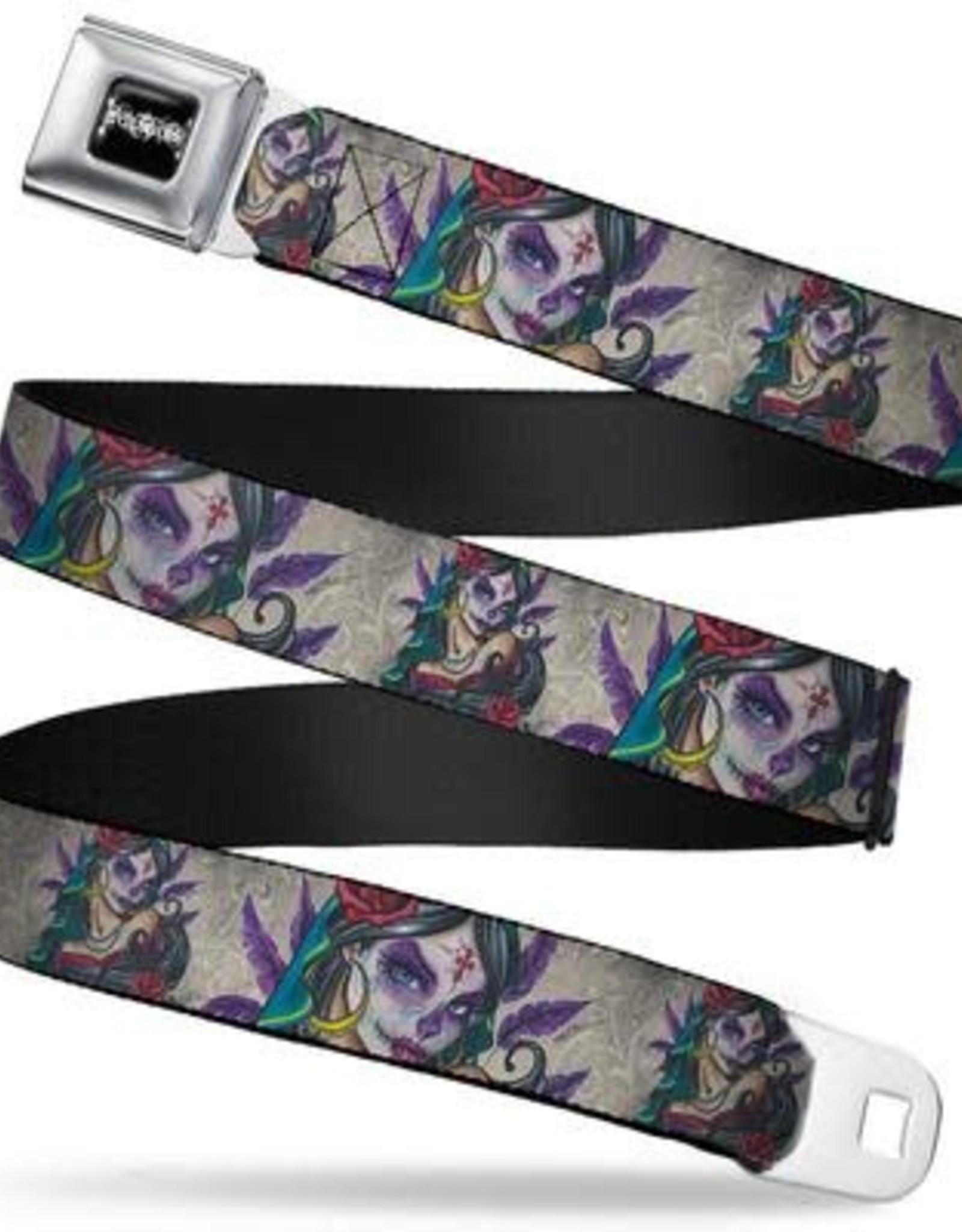 Buckle Down Belts Sexy Ink Girls Muerta Seatbelt Belt