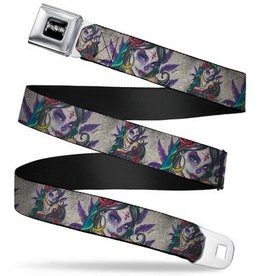 Buckle Down Belts Sexy Ink Girls Muerta Seatbelt Belt