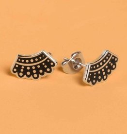 Dissent Pins Dissent Collar Stud Earrings - Dissent Pins