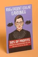 Dissent Pins RBG Dissent Collar Stud Earrings