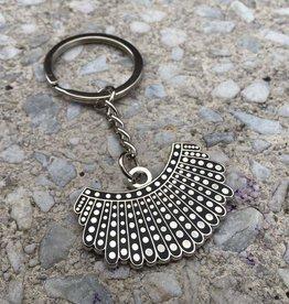 Dissent Pins RBG Dissent Collar Keychain - Dissent Pins