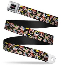 Buckle Down Belts The Powerpuff Girls Faces Seatbelt Belt