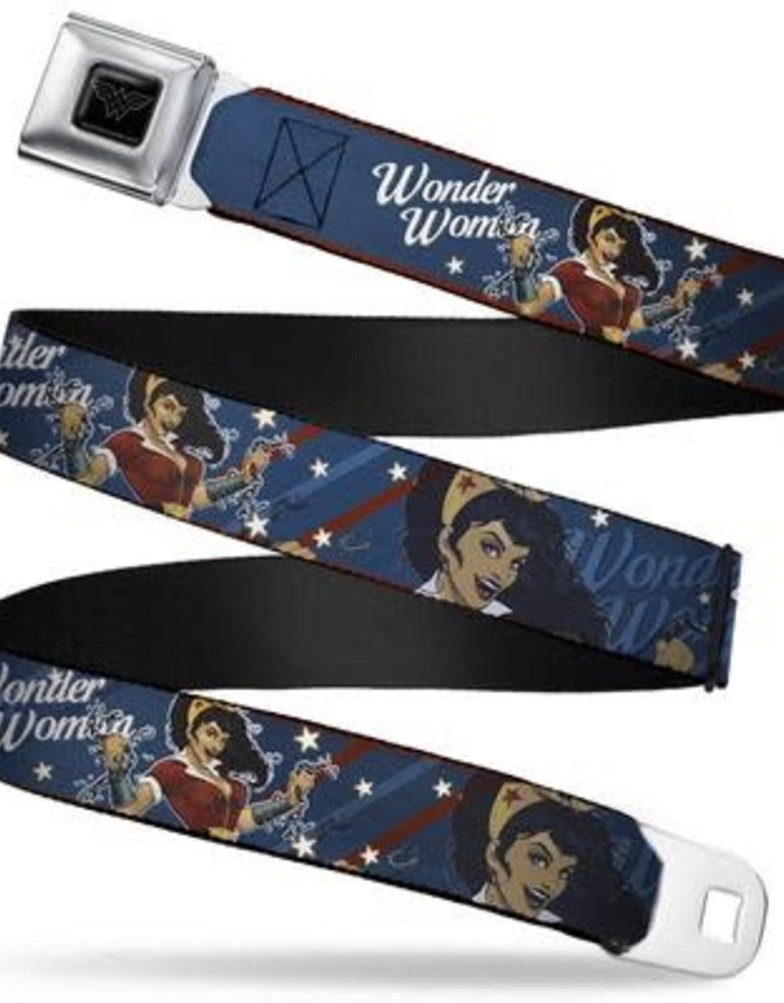 Buckle Down Belts Wonder Woman Bombshell Pose Seatbelt Belt