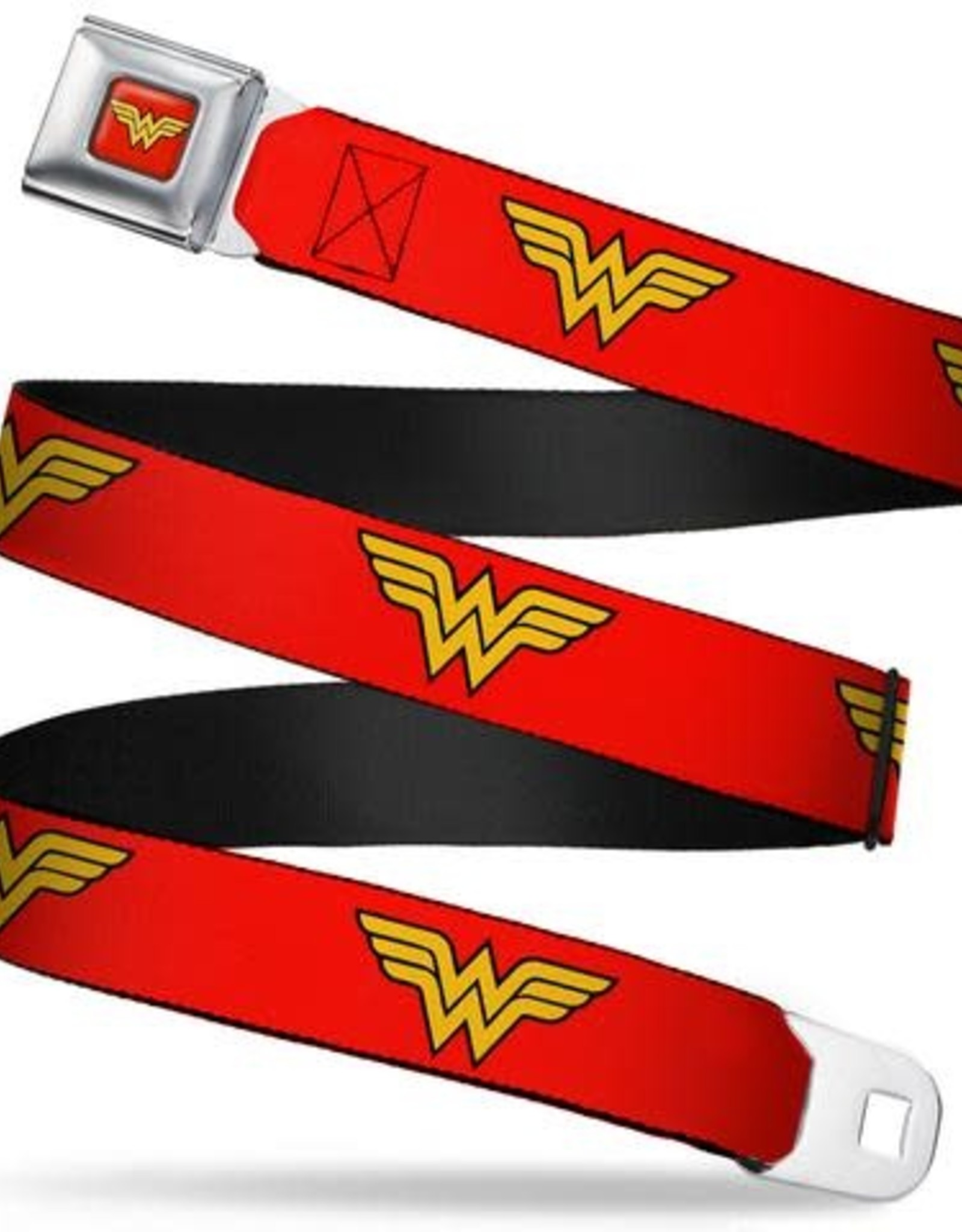 Buckle Down Belts Wonder Woman Logo  Seatbelt Belt in Red