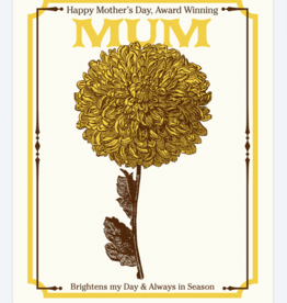 Vintage Mum Seeds Mother's Day Greeting Card - A Favorite Design