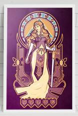 Zelda Nouveau Art Print - Megan Lara