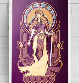 """Zelda Nouveau"" Art Print by Megan Lara"