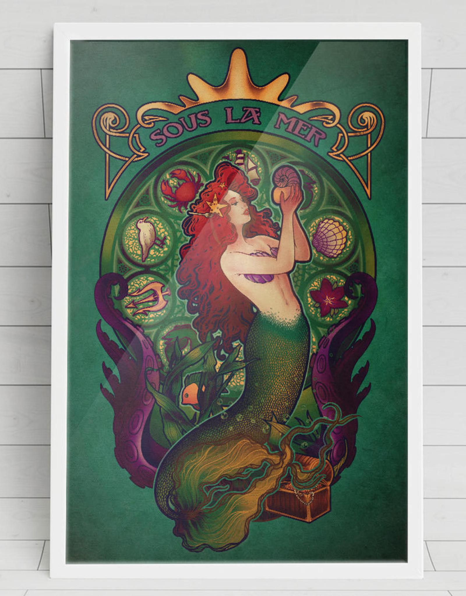 """Sous La Mer"" Art Print by Megan Lara"