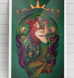 Sous La Mer (Little Mermaid) Signed Art Print - Megan Lara