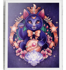 Maneki Luna Signed Art Print - Megan Lara