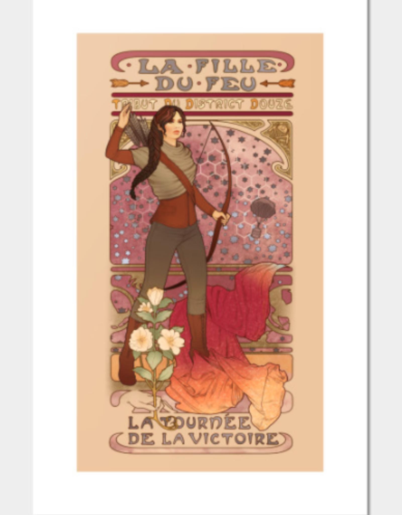 La Fille Du Feu (Hunger Games) Signed Art Print - Megan Lara