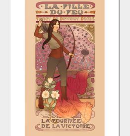 """La Fille Du Feu"" Art Print by Megan Lara"