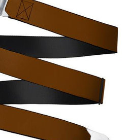 Buckle Down Belts Starburst Seatbelt Belt - Brown Webbing